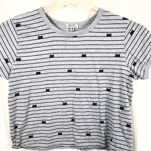 Messy Bun Just Chillin' Short Sleeve Top Size L